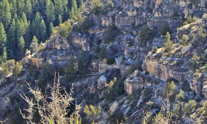 Ruins in Walnut Canyon near Flagstaff