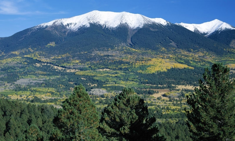 The San Francisco Peaks are part of the Kachina Peaks Wilderness