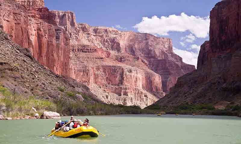 Rafting the Colorado River through the Grand Canyon